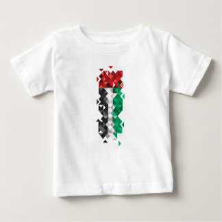 Made in UAE, Abstract UAE Flag, United Arab Emirat Baby T-Shirt