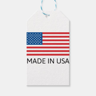 Made In Usa Flag Gift Tags