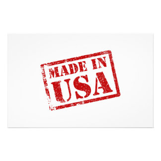 Made in USA, Made in America Personalized Stationery