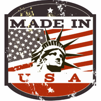 made in USA Standing Photo Sculpture
