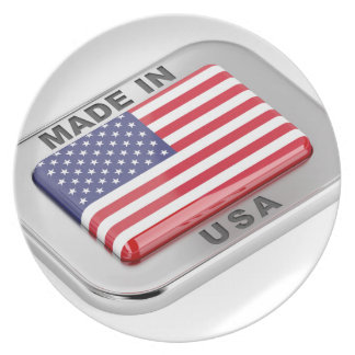 Made in USA Plate