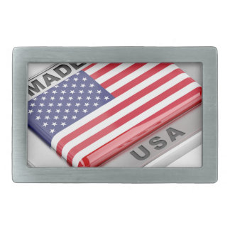 Made in USA Rectangular Belt Buckle