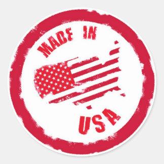 Made in USA rubber stamp design Round Sticker