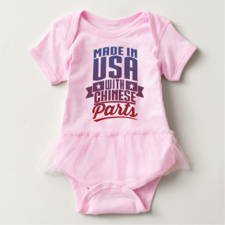 Made In USA With Chinese Parts Baby Bodysuit
