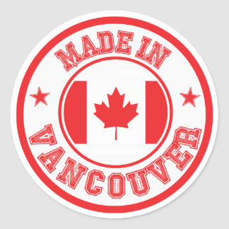 Made In Vancouver Classic Round Sticker