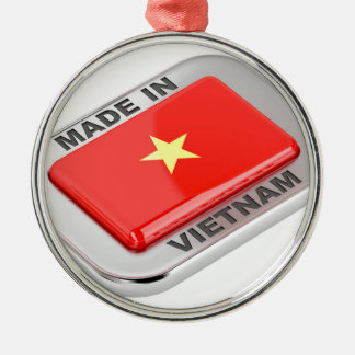 Made in Vietnam shiny badge Metal Ornament