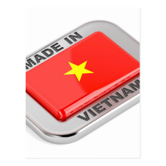Made in Vietnam shiny badge Postcard