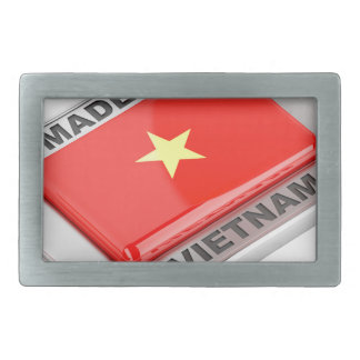 Made in Vietnam shiny badge Rectangular Belt Buckle