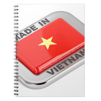 Made in Vietnam shiny badge Spiral Notebook