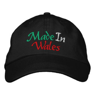 Made In Wales Embroidered Cap