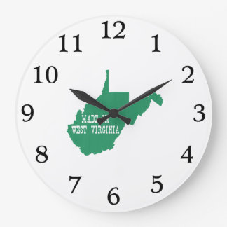 Made In West Virginia Large Clock