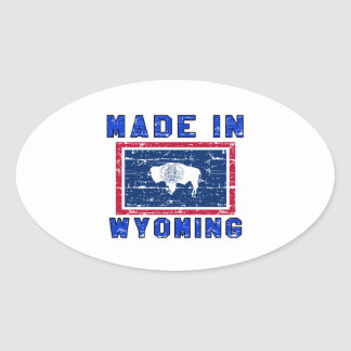 Made in Wyoming Oval Sticker