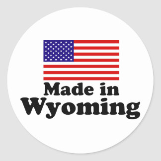 Made in Wyoming Round Sticker