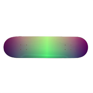Made iridescent skateboard