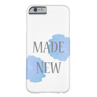Made New Silver + Blue Barely There iPhone 6 Case
