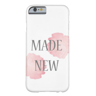 Made New Silver + Pink Barely There iPhone 6 Case