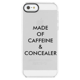 MADE OF CAFFEINE & CONCEALER CLEAR iPhone SE/5/5s CASE