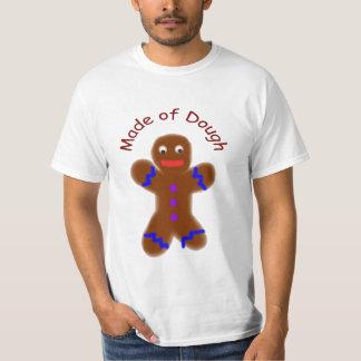 """Made of Dough"" Funny Gingerbread man t-shirt"