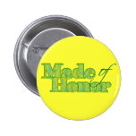 Made of Honour Green Buttons