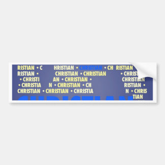 Made of Words CHRISTIAN Bumper Stickers