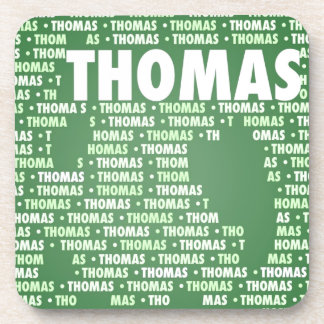 Made of words THOMAS Beverage Coasters