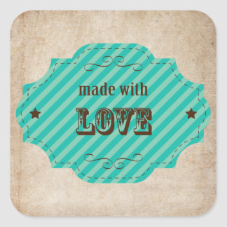 Made With Love - Baked Goodies Square Sticker