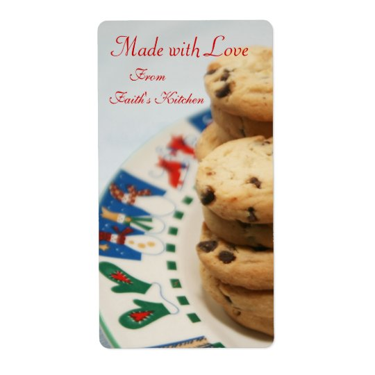 Made with Love Cookie Holiday Baking Kitchen Label