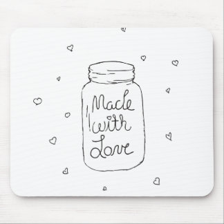 Made with Love Doodle Mouse Pad