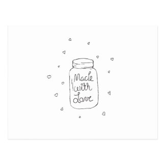 Made with Love Doodle Postcard
