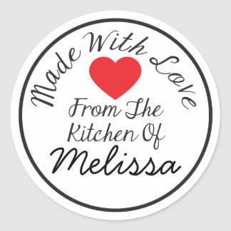 Made With Love From The Kitchen Of Round Sticker