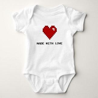 Made with Love Gamer Pixel Heart Shirt