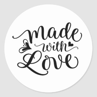 Made with Love | Round Sticker