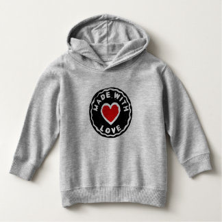 Made with love stamp message child hoodie