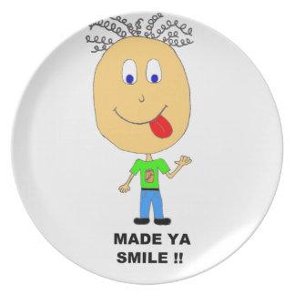 made ya smile dinner plates
