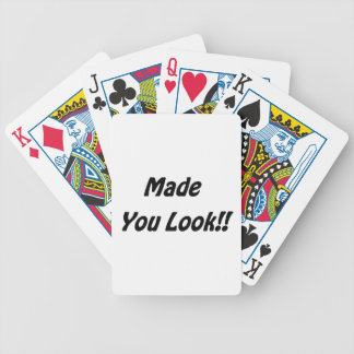 made you look bicycle playing cards