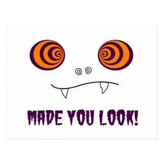 Made you look postcard