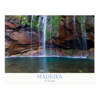 Madeira - 25 Fontes postcard with text