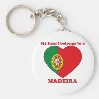 Madeira Basic Round Button Key Ring