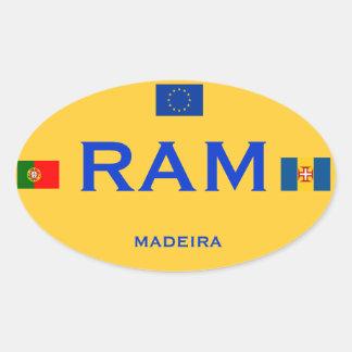 Madeira - European-Style Bumper Sticker