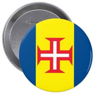 Madeira Flag 10 Cm Round Badge