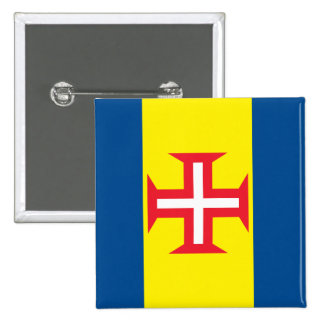 Madeira Flag 15 Cm Square Badge