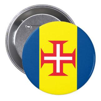 Madeira Flag 7.5 Cm Round Badge