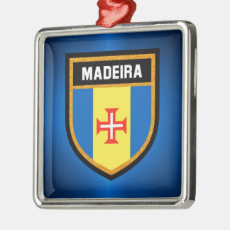 Madeira  Flag Metal Ornament