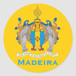 Madeira Flag Round Sticker