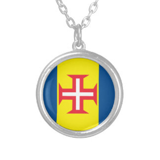 Madeira Flag Silver Plated Necklace