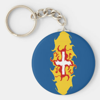 Madeira Gnarly Flag Basic Round Button Key Ring