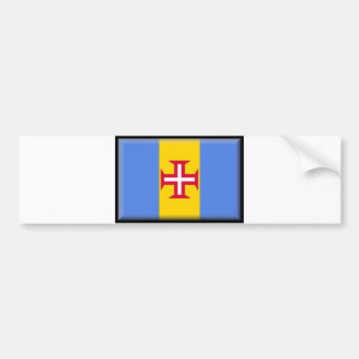 Madeira Islands Flag Bumper Sticker