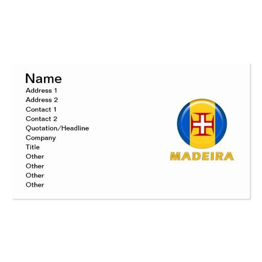 Madeira islands flag business cards