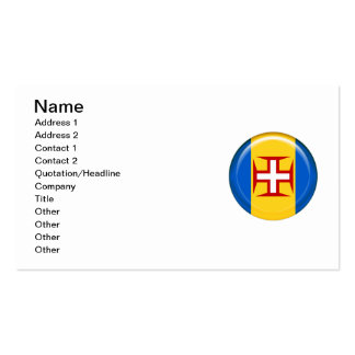 Madeira islands flag pack of standard business cards