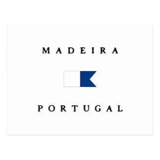 Madeira Portugal Alpha Dive Flag Postcards